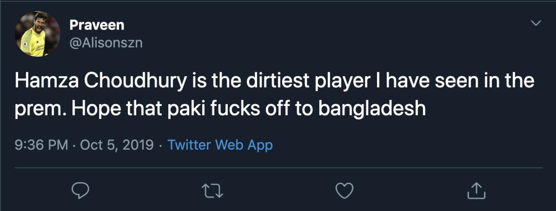 Choudhury stammer fra Grenada og Bangladesh, hvilket nogle valgte at angribe på Twitter.