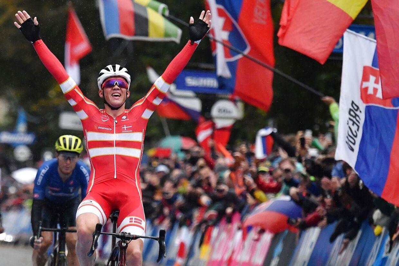 Mads Pedersen skrev dansk cykelhistorie, da han vandt VM i Harrogate.