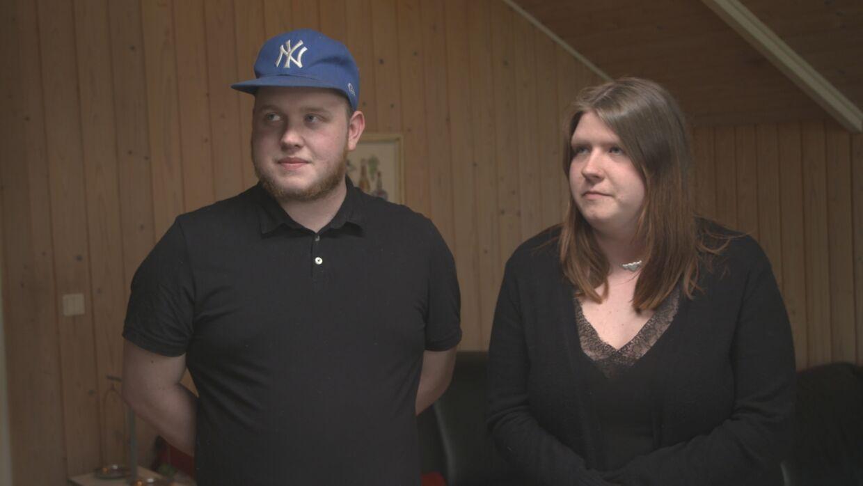 Morten Elgaard og hans kæreste, Zia på 20 år.