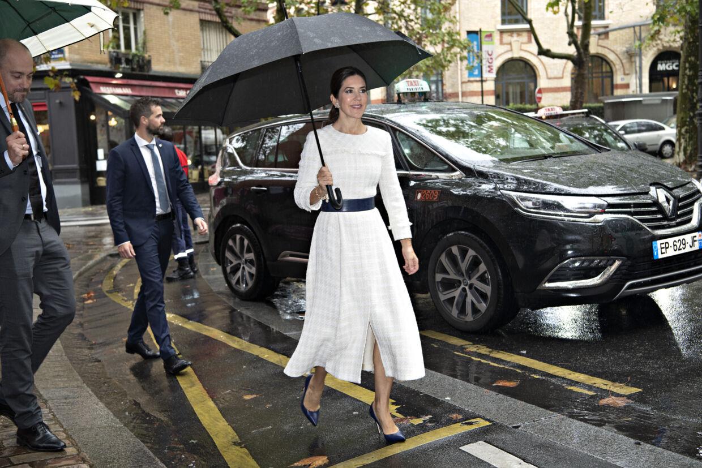 Mary besøger privathospitalet Les Peupliers. Tirsdag den 8. oktober 2019.