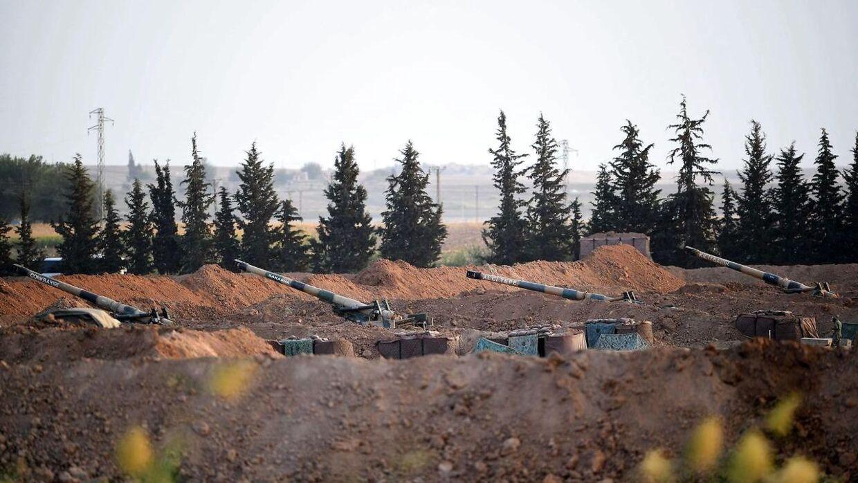 Her ses den tyrkiske side af den syriske grænse.
