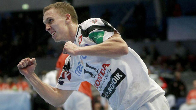 Her ses Stefan Hundstrup fra sin tid i KIF Kolding. Han har også spillet i klubber som GOG, Viborg HK og AG København.