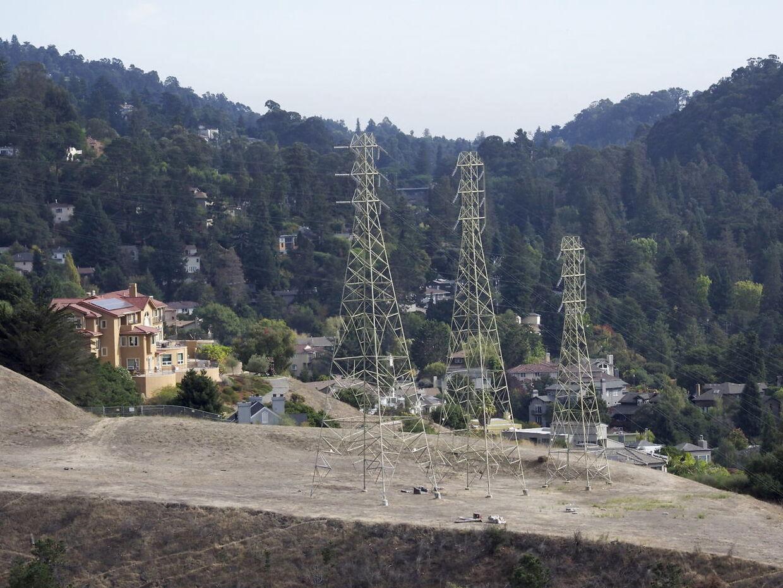 Sådan ser der ud i Oakland Hills, hvor PG&E vil lukke for strømmen.