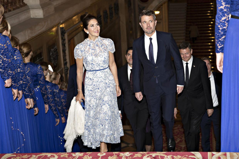 Grand Dinner, prins Joachim, prinsesse Marie og kronprinsparret. Tirsdag den 8. oktober 2019.