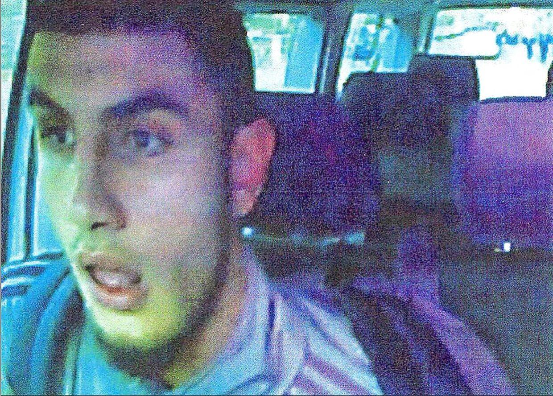 Omar el-Hussein, fanget på overvågning.