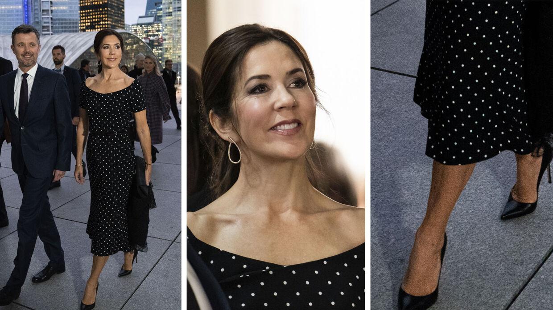 Kronprinsesse Marys kjole fra mandagens aftenarrangement.