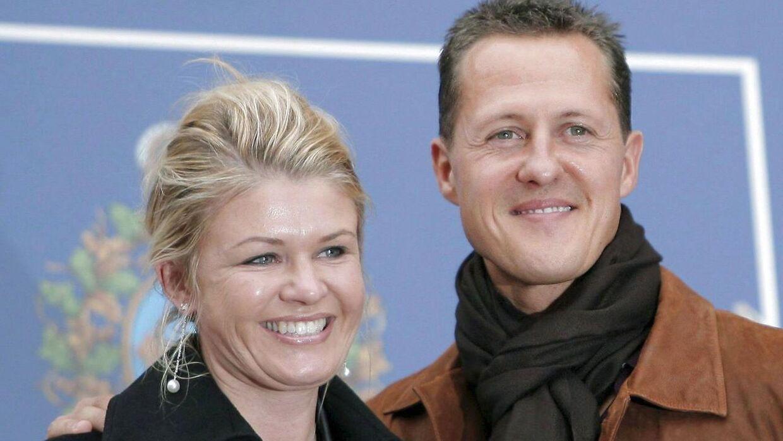 Michael Schumacher og konen Corinna.
