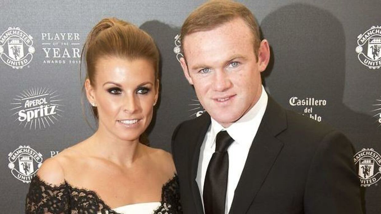 Wayne Rooney og Coleen Rooney.