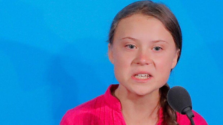 FILE PHOTO: 16-year-old Swedish climate activist Greta Thunberg.