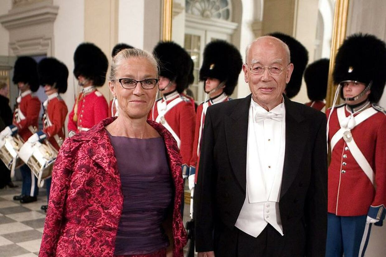 Arkivfoto fra 2007 af Ritt Bjerregaard og hendes Søren Mørch, som hun har været gift med siden 1966.