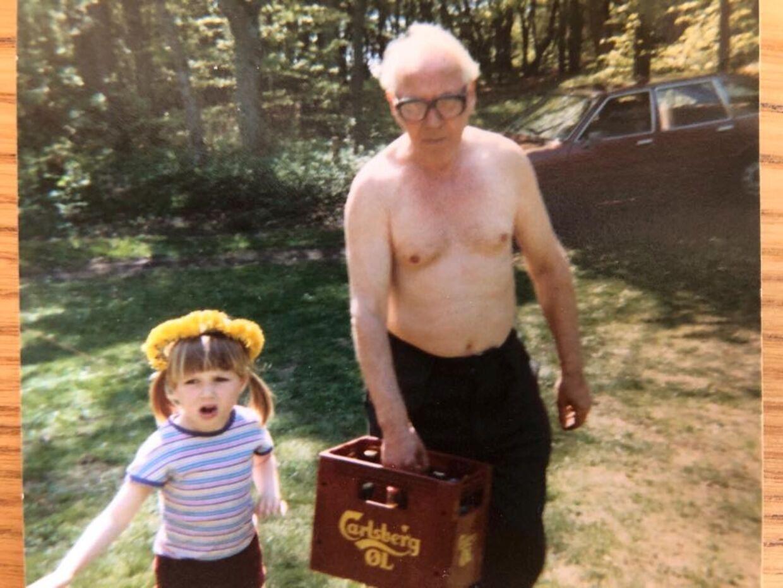 Mette og hendes farfar, som hun havde et rigtig tæt forhold til.