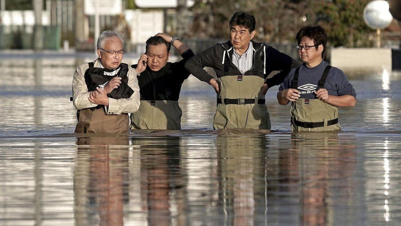 Der er faldt knap en meters regn på 24 timer i forbindelse med tyfonen.