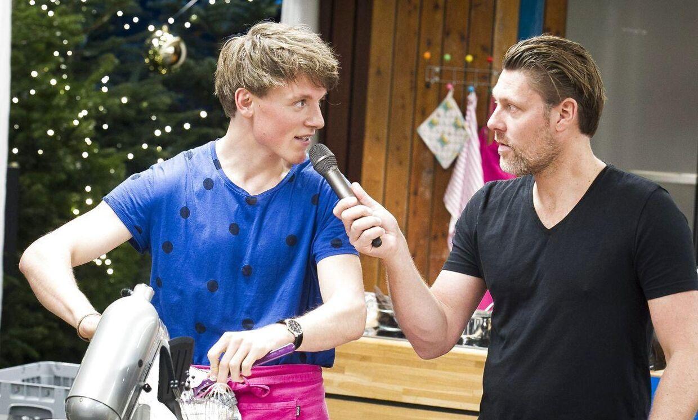 Tobias Hamann og Timm Vladimir i den DR-programmet 'Den store bagedyst'.
