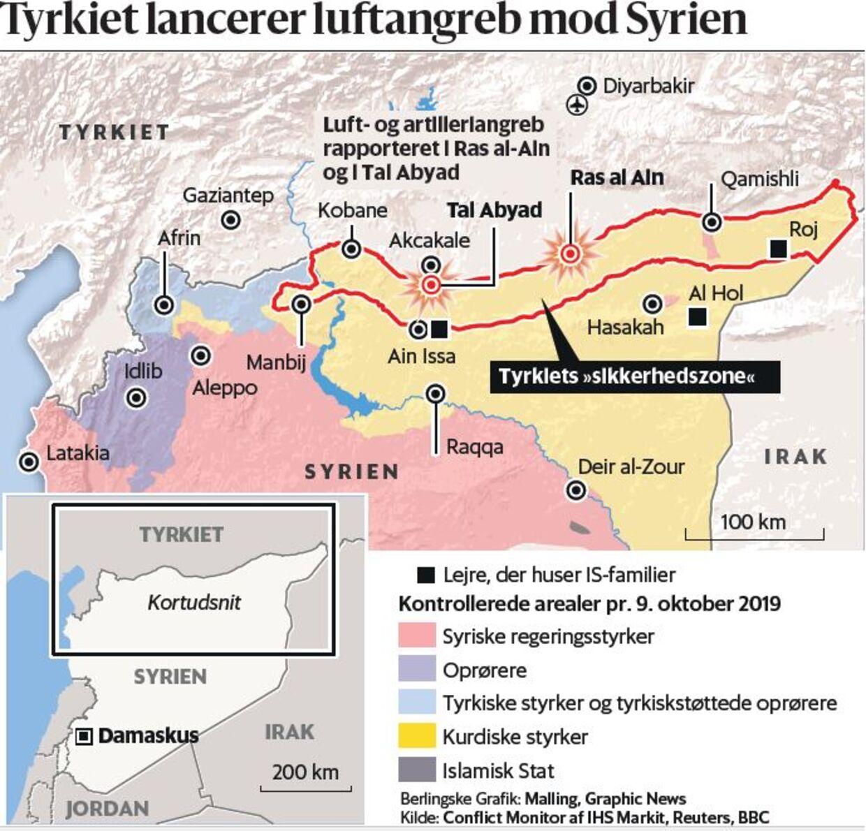 Grafik af konflikten