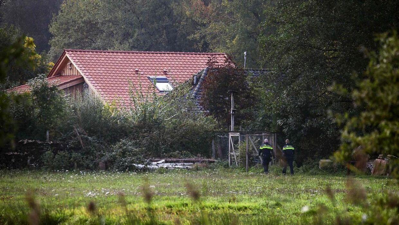 Det var på denne afsidesliggende gård, at familien blev fundet af politiet.