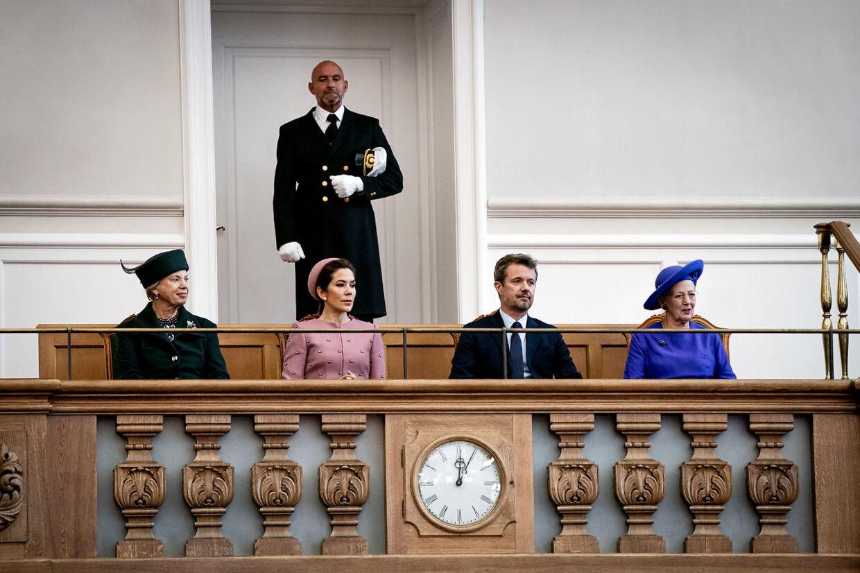 Den royale familie deltog i åbningen af Folketinget på Christiansborg den 1. oktober 2019.