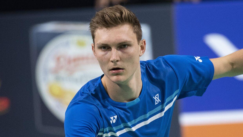 Mens Single Viktor Axelsen (DEN) mod Chen Long (CHN) Danisa Denmark Open Badminton. Odense. Lørdag den 19 oktober 2019. Semifinaler.. (Foto: Claus Fisker/Ritzau Scanpix)