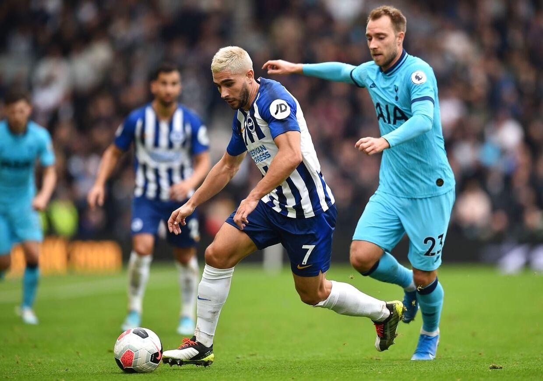 Christian Eriksen har sin sværeste tid i Tottenham, har han for nylig erklæret. Her ses han i 3-0-nederlaget til Brighton.