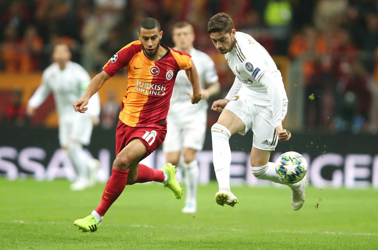 Younes Belhanda i kamp mod Real Madrid.