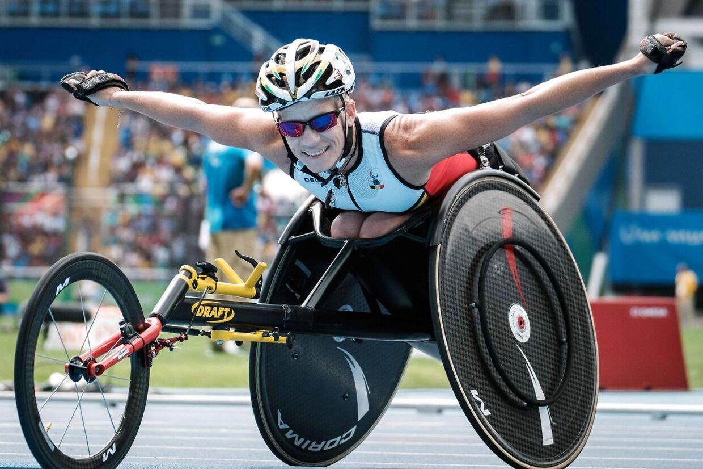 Marieke Vervoort efter at have vundet sølv ved OL i Rio i 2016.