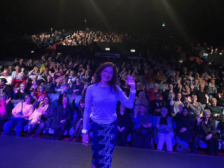 Efter foredraget fik Alexandra taget en selfie med publikum.
