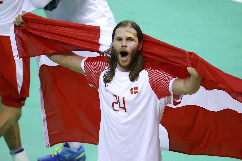 Mikkel Hansen var med på Danmarks håndboldlandshold, der ved OL 2016 i Rio de Janeiro vandt guld.