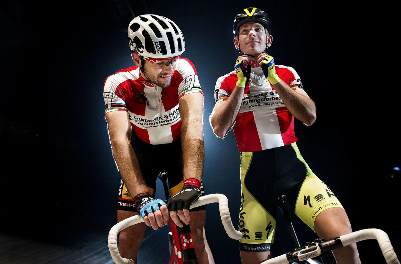 Torsdag 30. april: Cykelrytter Michael Mørkøv, 30 år. 6-dagesløb i Ballerup Arena. Michael Mørkøv og Alex Rasmussen