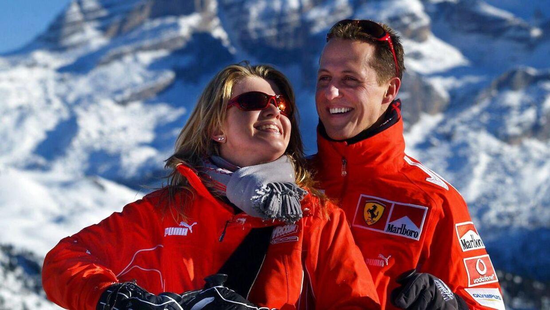 Michael Schumacher og konen Corinna tilbage i 2005.