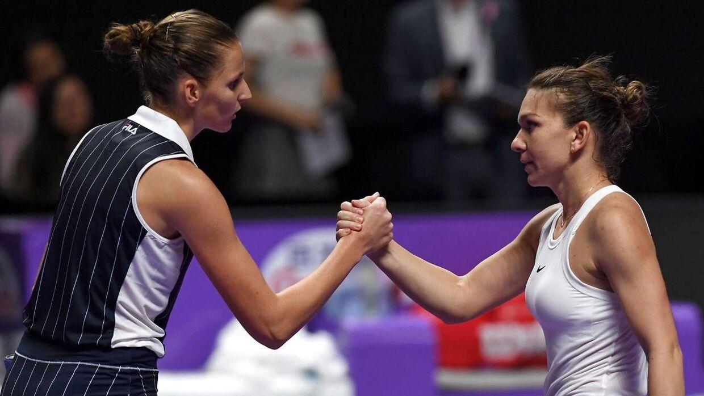 Karolina Pliskova vandt fredag over Simona Halep ved årets sæsonfinale.