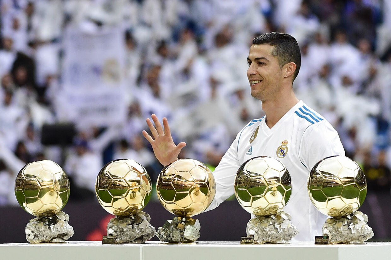 Ronaldo er 'kun' blevet tildelt Ballon d'Or-trofæet fem gange.