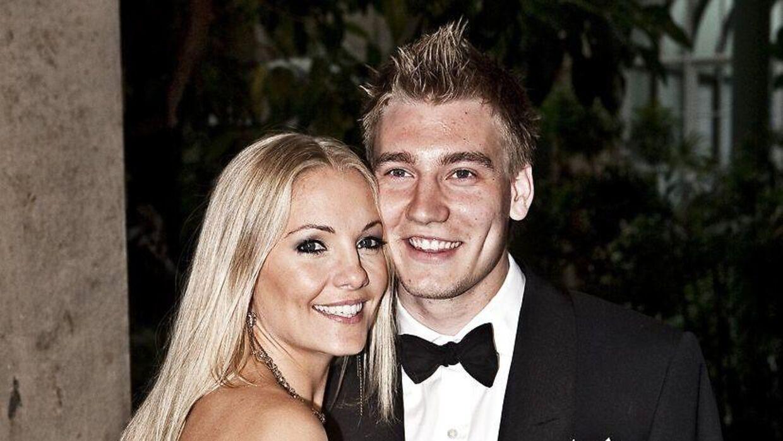 Caroline Fleming og Nicklas Bendtner fik sammen en søn i december 2010. Hun har to børn fra sit tidligere forhold til James Bond-arvingen Rory Fleming. (Foto: Scanpix)