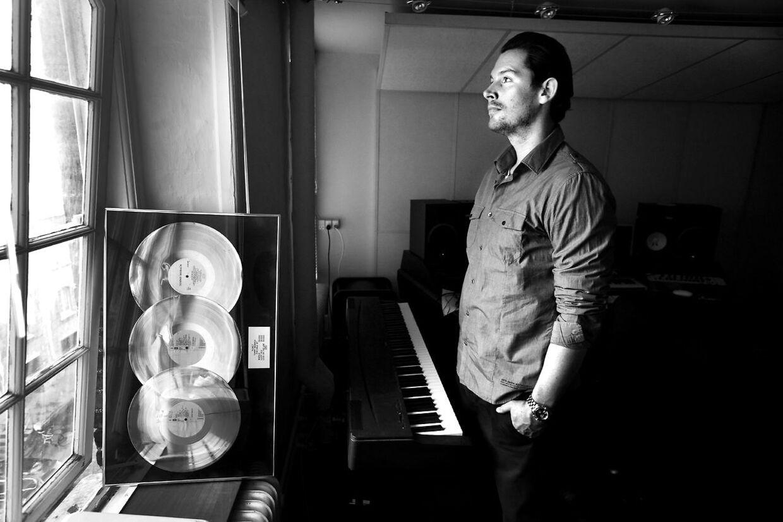 Rasmus Seebach i sit gamle studie, fotograferet i 2009.