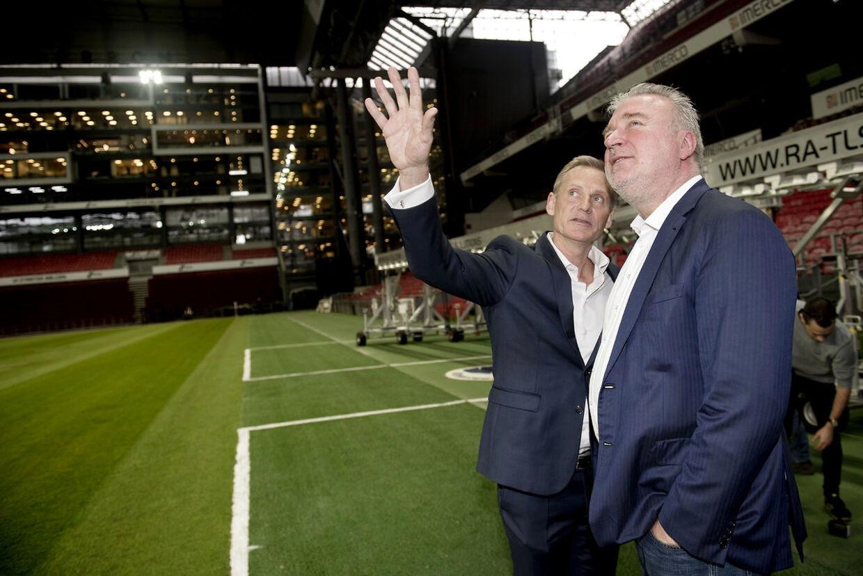 Bo Rygaard, bestyrelsesformand i Parken Sport & Entertainment A/S, og Lars Seier.