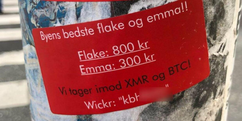 Helt åbenlyst reklameres der for narkohandel mellem Nørrebro Station og Nørreport Station. 'KbhXXX' er et af B.T. konstrueret brugernavn. Vi ønsker ikke videformidle det rigtige navn og dermed en direkte kontakt til en aktiv narkohandler.