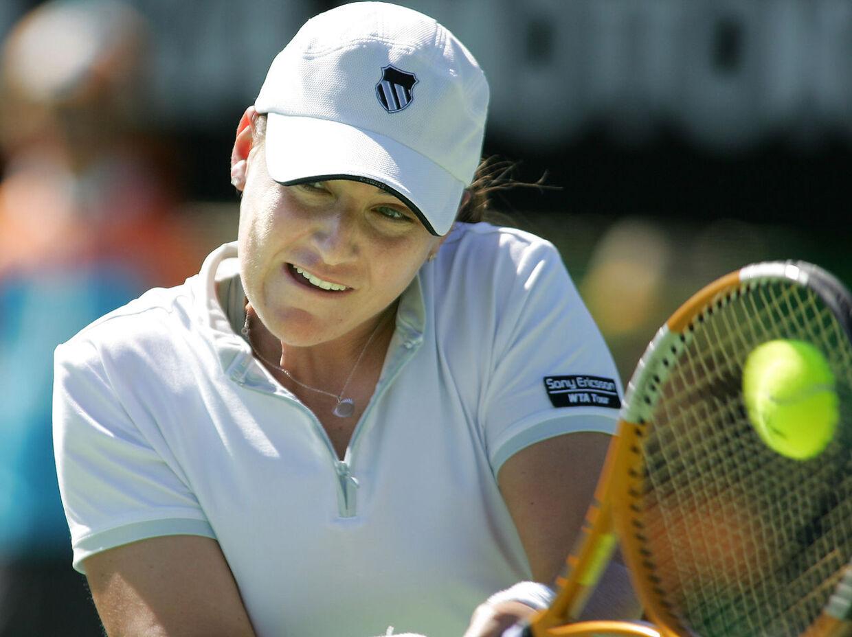 Abigail Spears, billedet, har afleveret en positiv dopingprøve og er nu blevet suspenderet fra al turneringsspil af ITF.