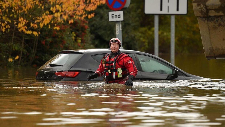 Voldsomt uvejr har forårsaget store oversvømmelser i det nordlige Storbritannien. Arkivfoto.