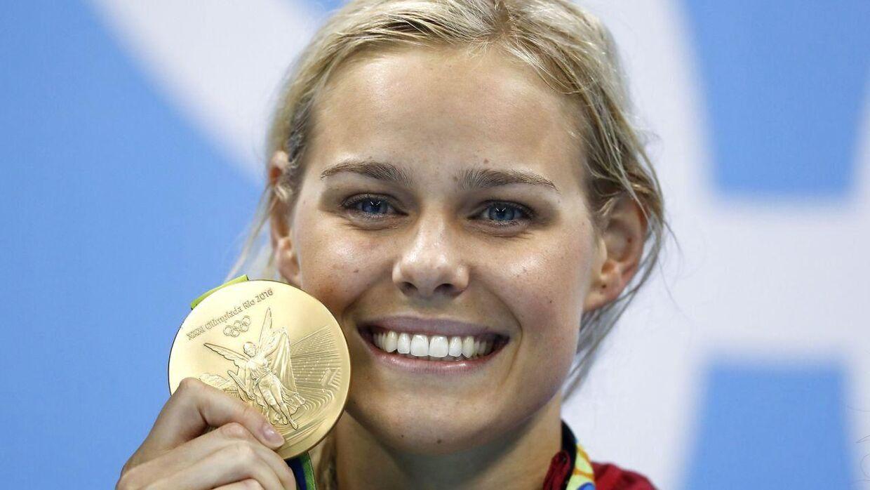 Pernille Blume vandt OL-guld i 50 meter fri i Rio i 2016.