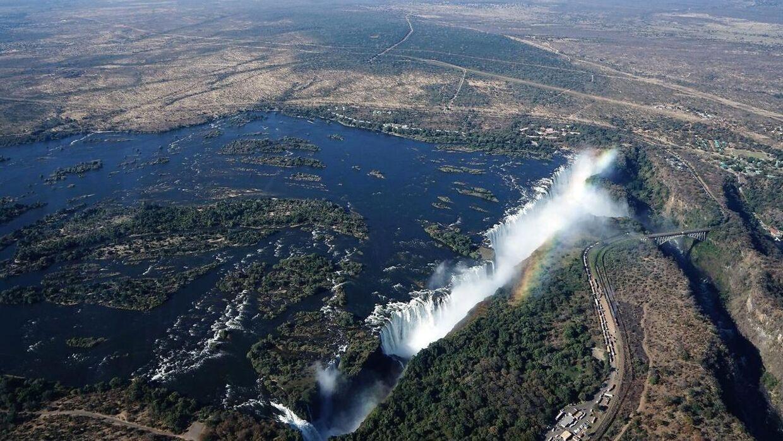 Victoria Falls er ikke engang halvt så prægtigt, som det var engang.