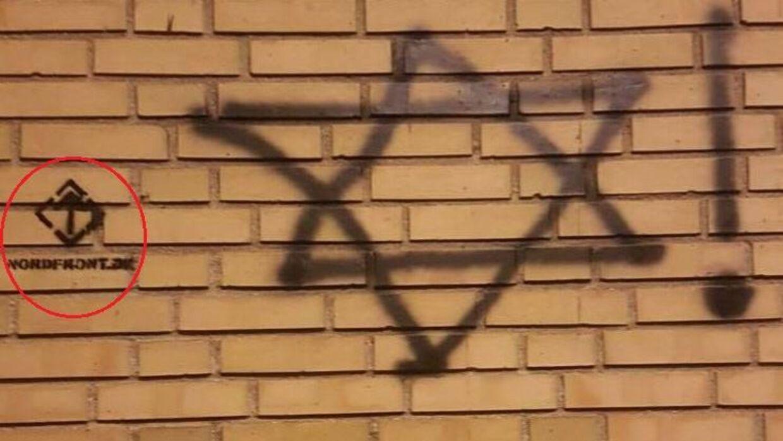 Logoet tilhørende Nordfront vækker mistanke.
