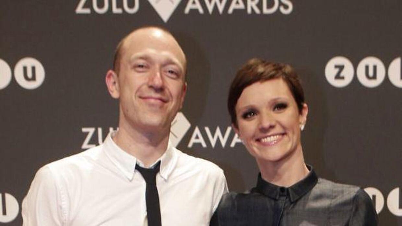 Lise Rønne med kæresten Mikkel Lucas Overby ved Zulu Awards i 2012 i København. (Foto: Martin Sylvest Andersen/Scanpix 2012)