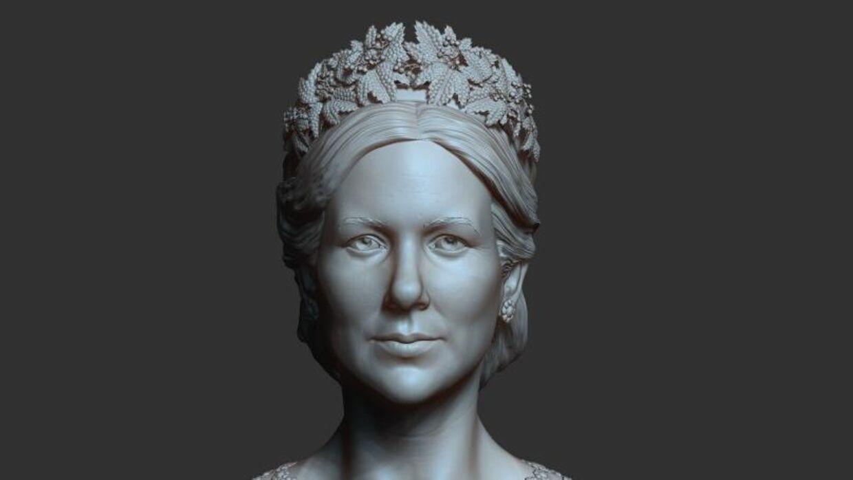 Busten af Mary er kun lavet som en hyldest, og vil ikke blive sat i produktion og solgt. (Foto: Jim Lyngvild)
