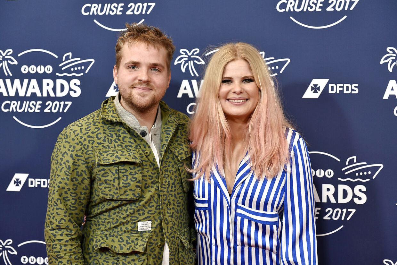 Sofie Linde og Joakim Ingversen til Zulu Awards i 2017.