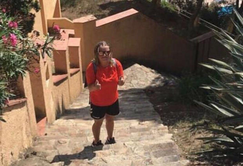 Sussy Jensen besøgte blandt andet Barcelona under sin Interrail-rejse. Her fik hun en italiensk veninde, som hun fortsat skriver med. Privatfoto