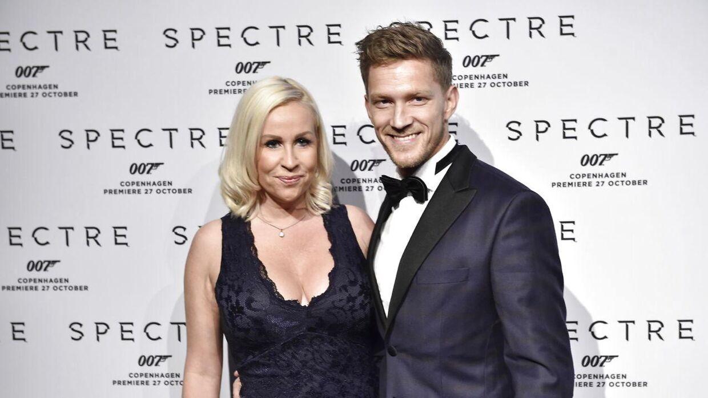 Michael Olesen og kæresten Joan Divine tilbage i 2015.
