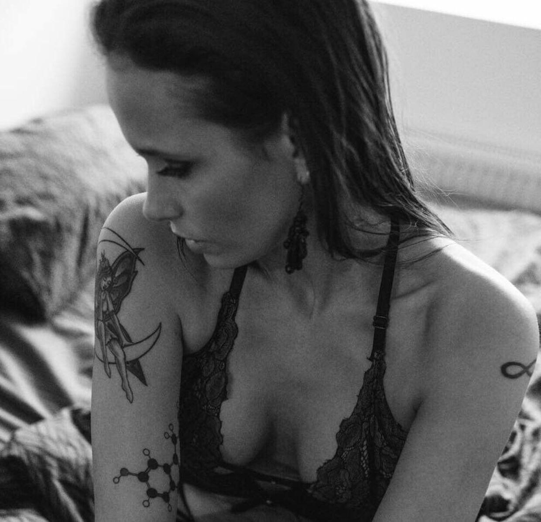 Sandra Mørk Valente har arbejdet som model ved siden af sit arbejde som kok.
