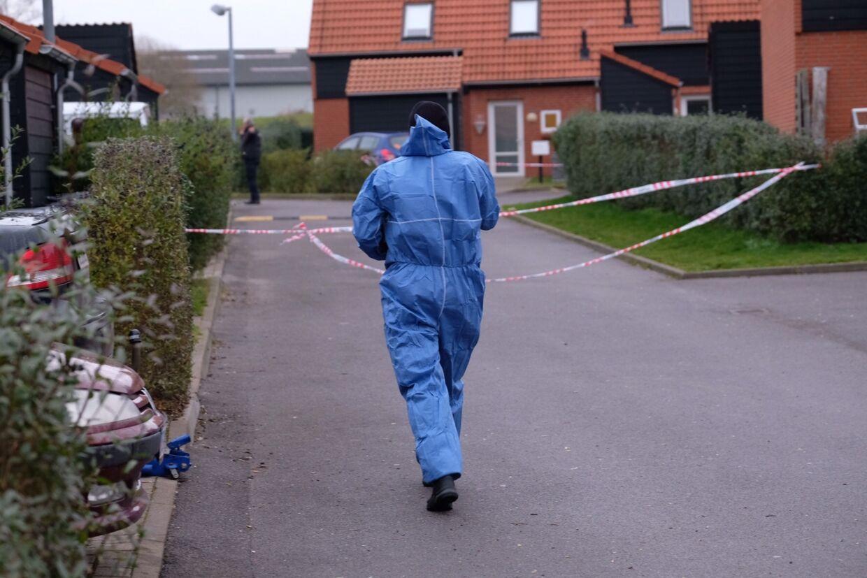 Politiet er i gang i Ruds-Vedby.