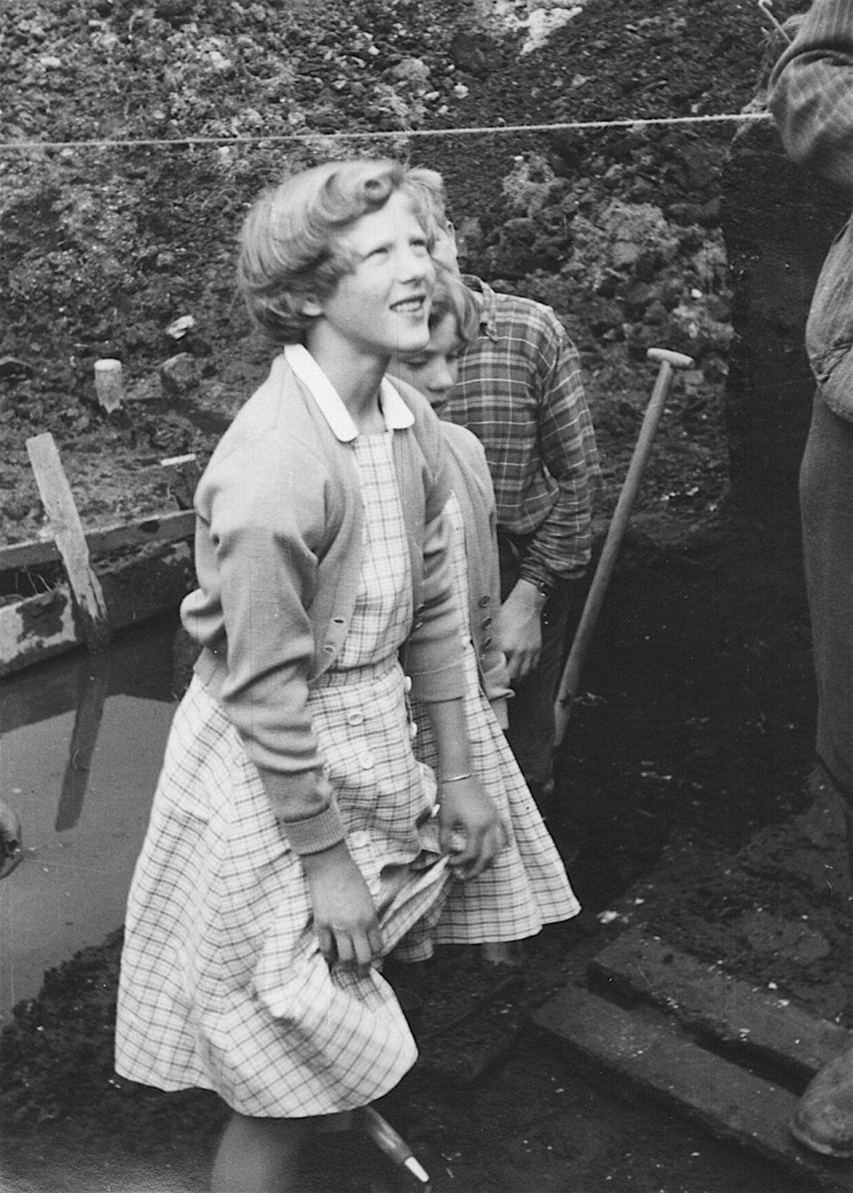 La princesa Margrethe desde su muy joven tenía un gran interés en la arqueología.