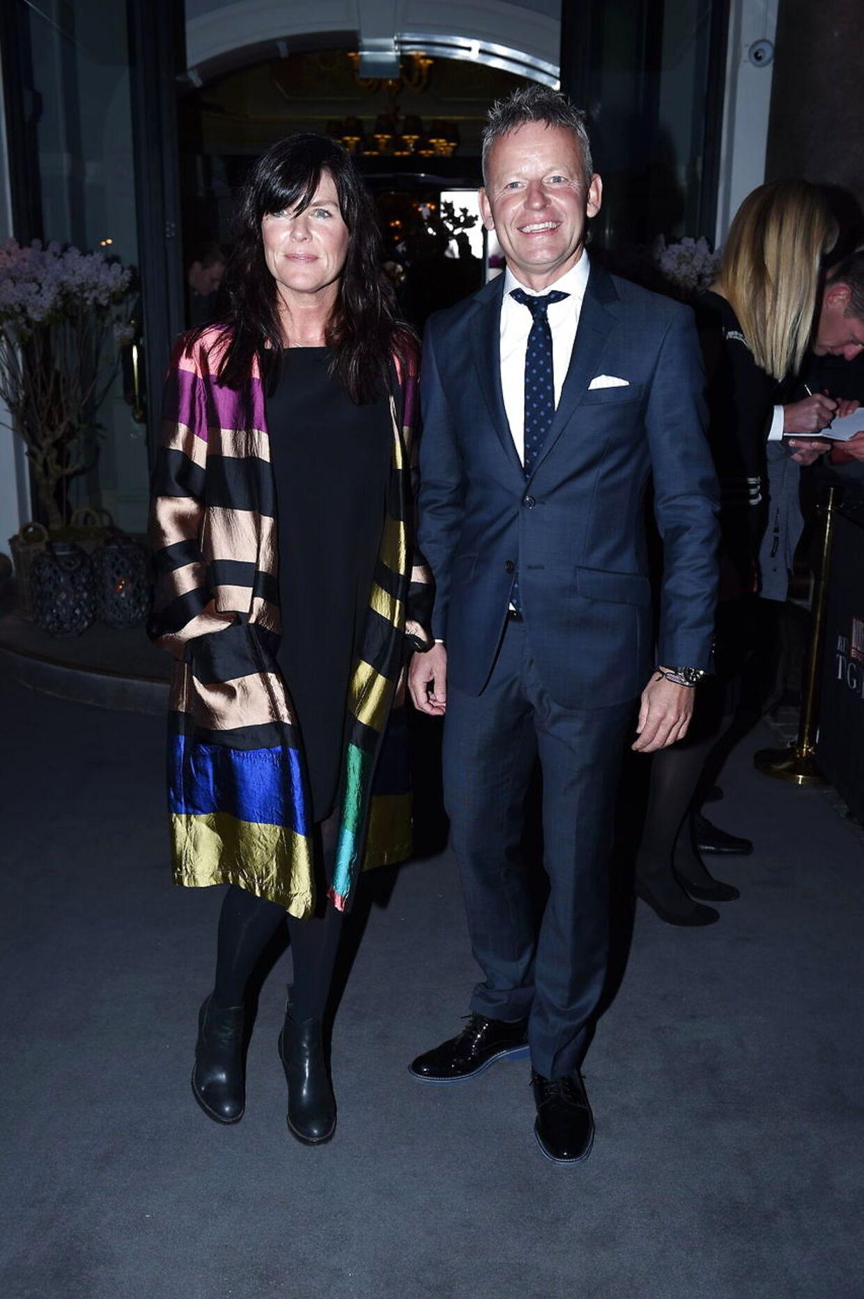 Bubber og Christina 'Ibsen' Meyer til Billedbladets 'TV-Guld' i 2015.