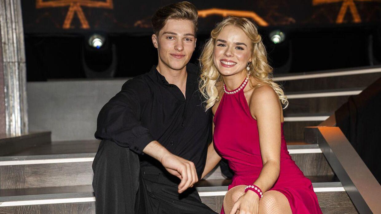 Oscar Bjerrehuus og 'Vild med dans'-dansepartner Asta Björk.