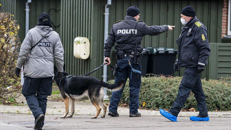 En talstærk politstyrke med hjælp fra hunde ledte umiddelbart efter drabet i Kundby på en 35-årig kvinde efter spor ved gerningsstedet.
